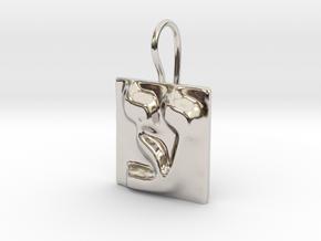 16 Ayn Earring in Rhodium Plated Brass