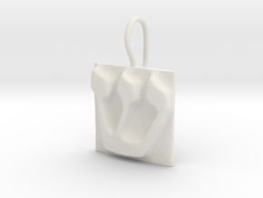 21 Shin Earring in White Natural Versatile Plastic
