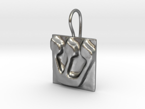 21 Shin Earring in Natural Silver