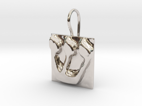 21 Shin Earring in Rhodium Plated Brass