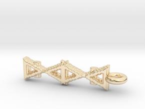 Alchemy Pendant in 14k Gold Plated Brass