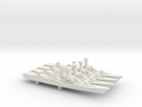 Kanin-class Destroyer (Project 57-A) x 4, 1/2400 in White Natural Versatile Plastic