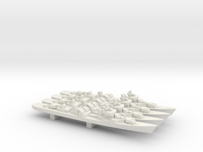 Kotlin-class destroyer x 4, 1/2400 in White Natural Versatile Plastic