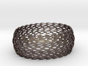 Bracelet Soft3d in Polished Bronzed Silver Steel: Large