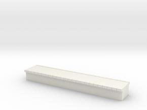 N Scale Platform #1 Centre in White Natural Versatile Plastic