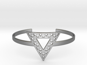 Vértice Open Triangle Cuff in Polished Silver
