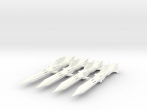 'Anti-Vajra' Missile x4 - YAMATO in White Processed Versatile Plastic