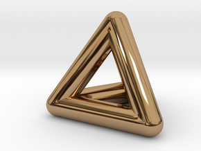 0278 Tetrahedron V&E (full color) in Polished Brass (Interlocking Parts)