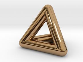 0278 Tetrahedron V&E (full color) in Polished Brass (Interlocking Parts)