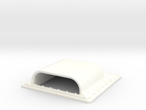 Seaking Square vent 25 X25  in White Strong & Flexible Polished