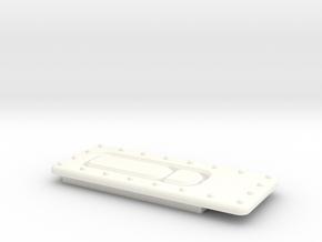 Seaking Door Handle 1 in White Processed Versatile Plastic