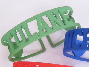 Tulane Cuff in Green Strong & Flexible Polished