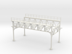 HO SCALE MARKET EL NO DECK in White Natural Versatile Plastic