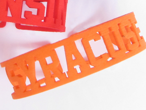 Syracuse Cuff in Orange Strong & Flexible Polished