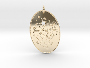 Shooting Stars 1 Pendant by Gabrielle in 14K Yellow Gold