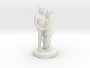 Printle Classic Couple 023 in White Strong & Flexible