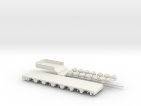 1:160/N-Scale 7 Axle Semitrailer in White Strong & Flexible