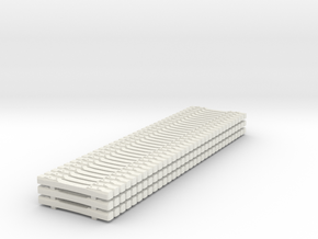 HO Concrete Ties Load B70 in White Strong & Flexible