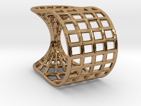 Wormhole Ring in Polished Brass: 5 / 49