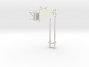 Highway Cantilever Sign 1-87 HO Scale 2 Pack in White Natural Versatile Plastic: 1:87
