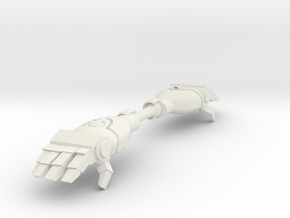 Mk1- Techno-Fist (Open) (x2) in White Strong & Flexible