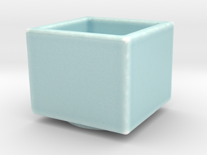 Celadon Selfie Square Succulent Planter in Gloss Celadon Green Porcelain