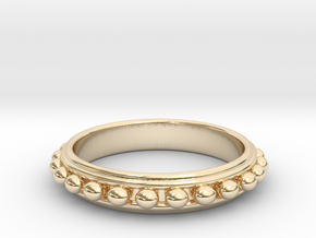 Granulated Ball Ring Size 8 in 14K Yellow Gold