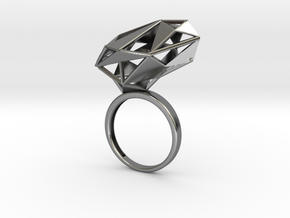 The Matrix Ring in Polished Silver: 6.5 / 52.75