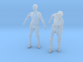 1-24 Male Zombie Set4 in Smooth Fine Detail Plastic
