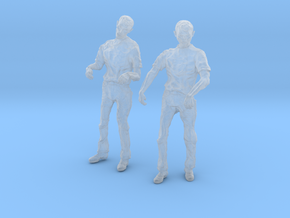 1-24 Male Zombie Set5 in Smooth Fine Detail Plastic