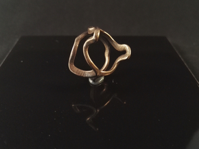 Mind generated ring - my idea of independence in Polished Bronze Steel: Medium