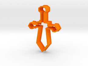 Cookie Cutter Sword in Orange Processed Versatile Plastic