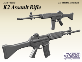 1/12 K2 Assault rifle in Smoothest Fine Detail Plastic