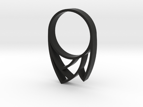 Punk Ring in Black Natural Versatile Plastic