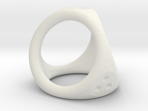 D4 ring in White Natural Versatile Plastic