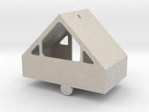 3-D A-Frame Ornament in Natural Sandstone