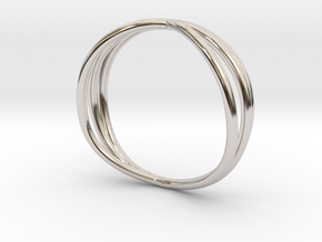 Nouv II (Medium) in Rhodium Plated Brass