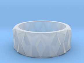 Diamond Ring V2 in Smooth Fine Detail Plastic
