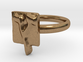 27 Tzadi-sofit Ring in Natural Brass: 7 / 54