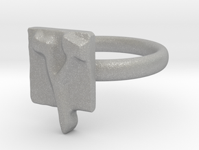 27 Tzadi-sofit Ring in Aluminum: 7 / 54