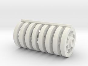 8 Tapacubos Braid 20 V REV in White Natural Versatile Plastic