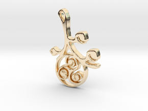 Earthly Spring Triskele by ~M. in 14k Gold Plated Brass