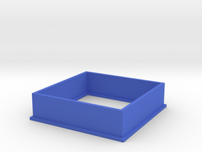 Cookie Cutter Square in Blue Processed Versatile Plastic