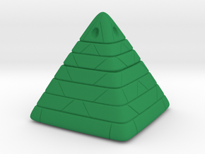 Pyramide Enlighted in Green Processed Versatile Plastic