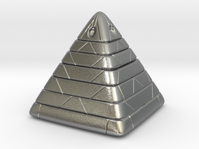 Pyramide Enlighted in Natural Silver