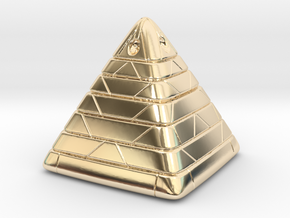 Pyramide Enlighted in 14K Yellow Gold