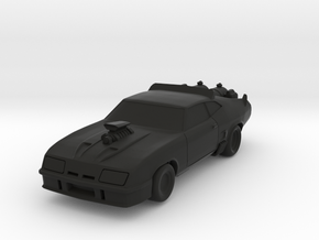 MFP Interceptor, 1/64 Scale, Fixed Axles, Modified in Black Natural Versatile Plastic: 1:64 - S