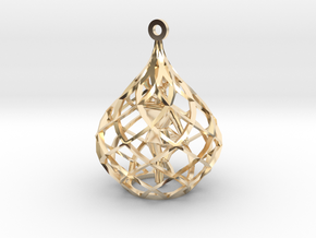 Ornament - Crane Stance With Diamond Block in 14K Yellow Gold