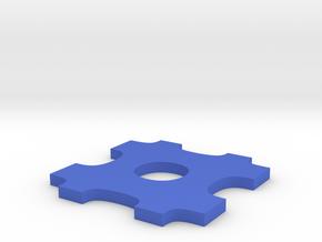 Puzzle Piece Necklace in Blue Processed Versatile Plastic