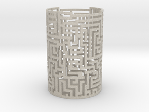 Candle Holder Q6 in Sandstone